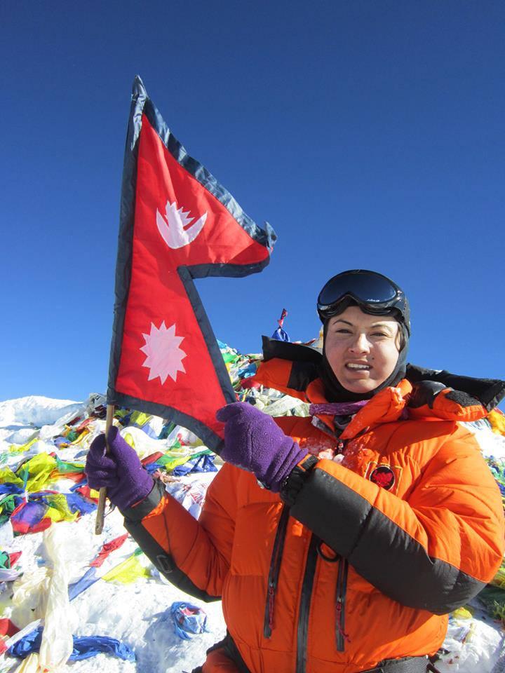 Nisha Adhikari in Mt Everest