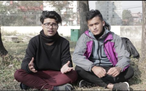 Sabin Karki and Saroj Adhikari