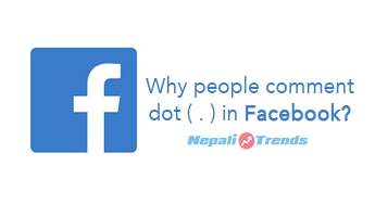 why people comment dot in facebook