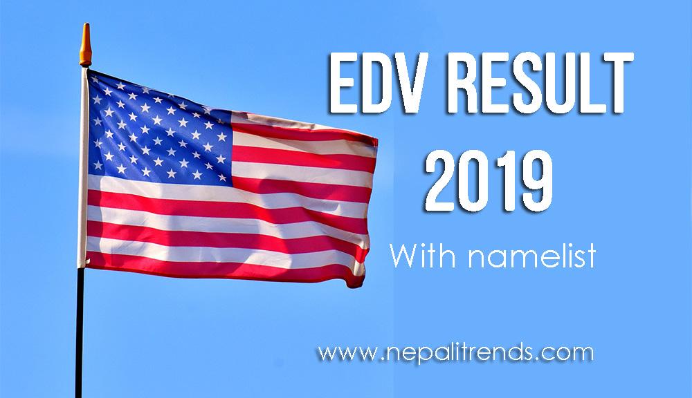 EDV Result 2019 - DV Lottery Winner 2075 With Namelist