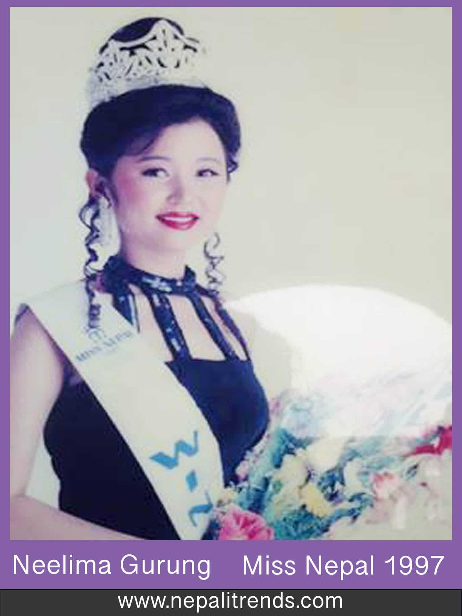 Neelima Gurung Miss Nepal 1997