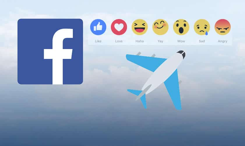 plane emoji on Facebook