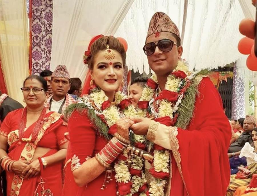 dipika prasai and diwakar bhattarai wedding