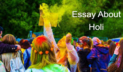 Essay about holi