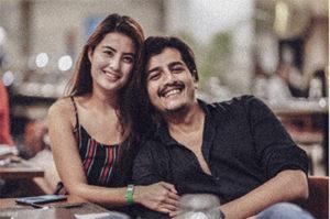 Niti Shah with boyfriend
