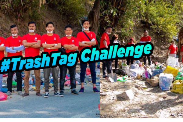 TrashTag Challange in Nepal