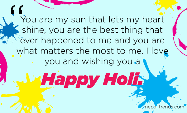 happy holi wish in nepali for boyfried