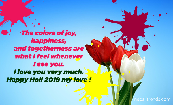 holi wish in nepali for girlfriend