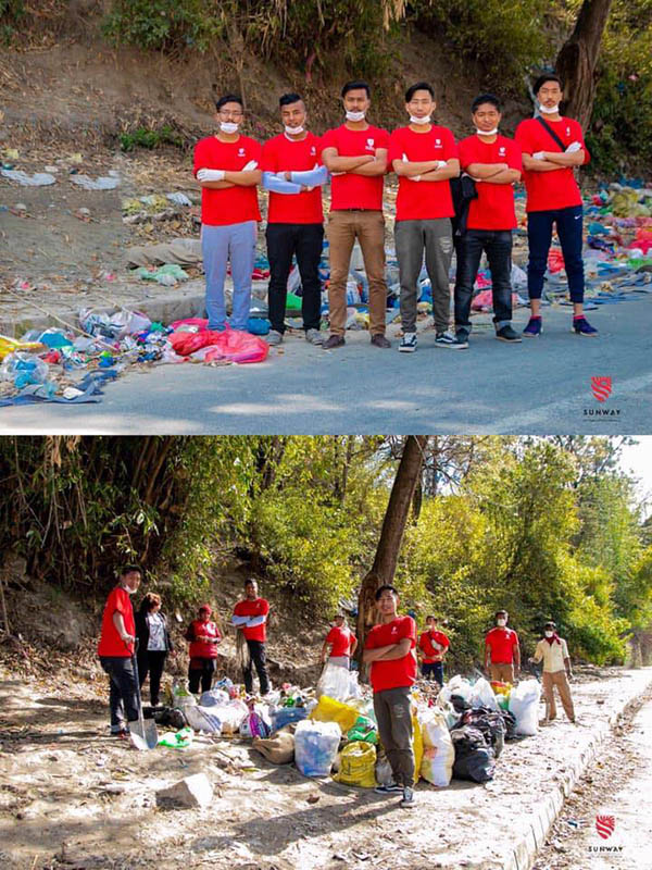 trash tag challenge in Nepal
