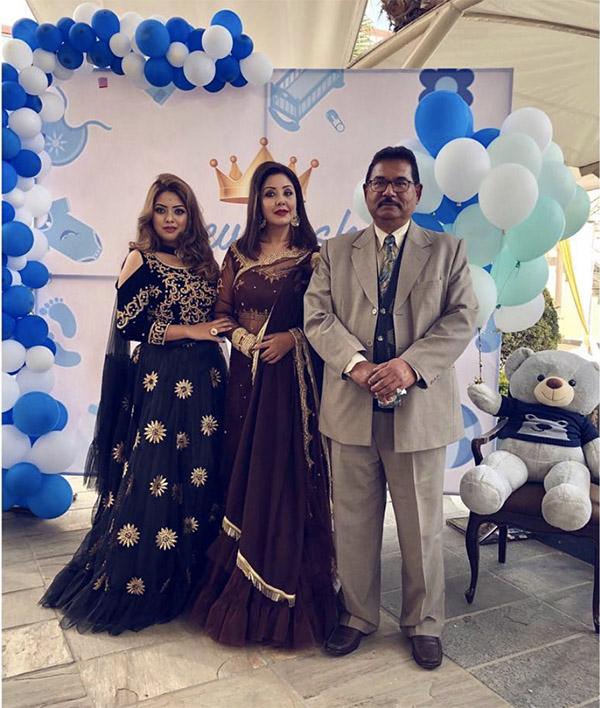 Karishma Manandhar with Husband and Daughter