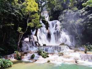 waterfall in laos