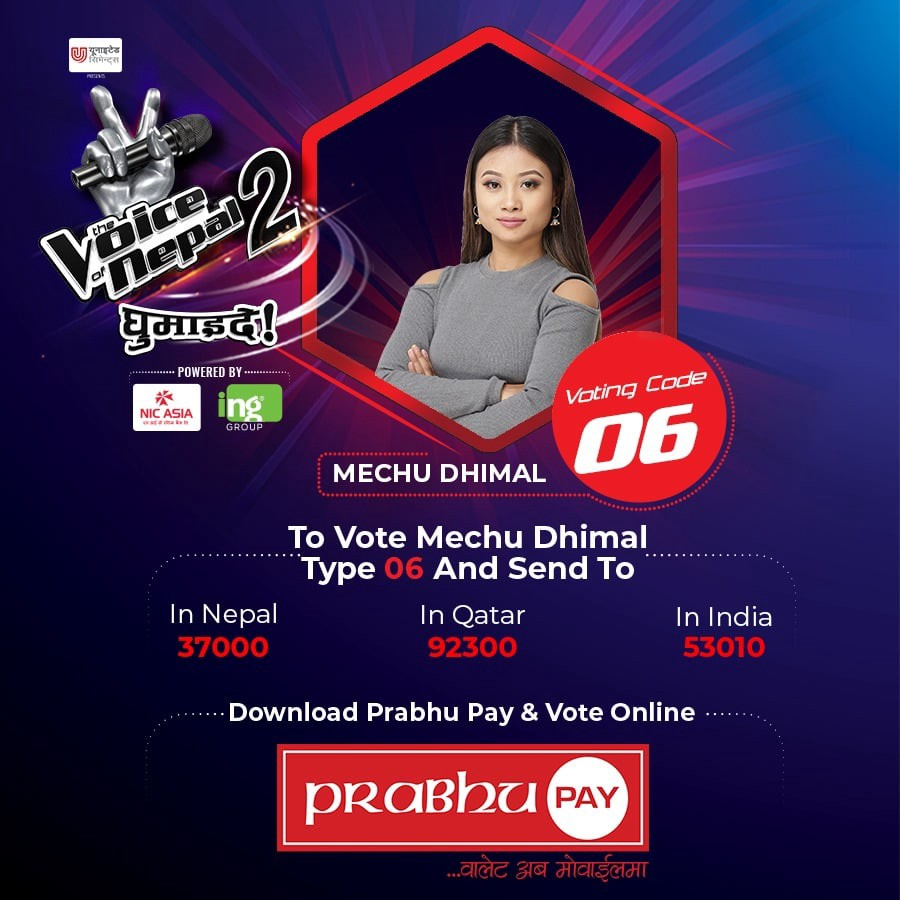 Vote for mechu dhimal