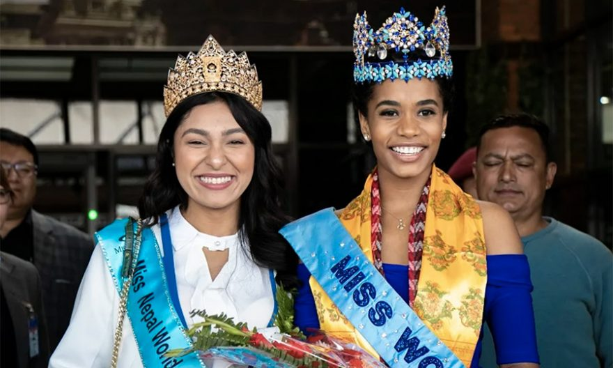 Miss World Toni-Ann Singh in Nepal